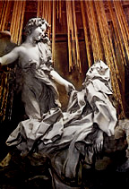 Ecstasy of St. Teresa by Gianlorenzo Bernini   (Permission by Mark Harden; https://www.artchive.com)